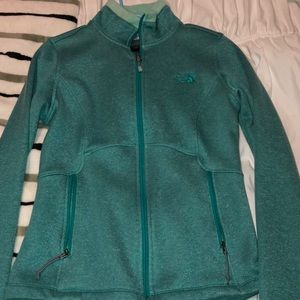 The north face teal blue green jacket